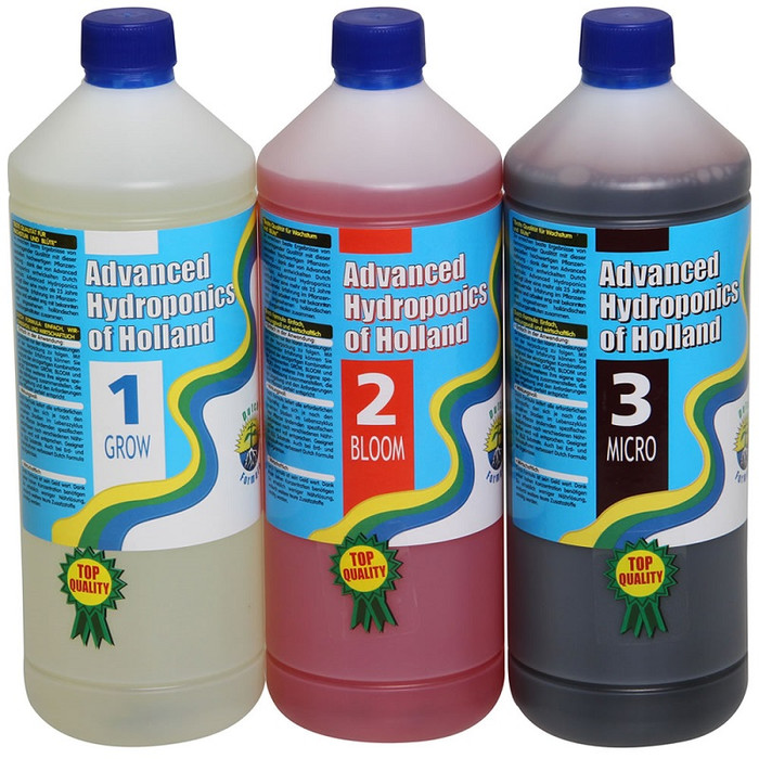 Kit de Fertilizante Advanced Hydroponics grow, Bloom,...