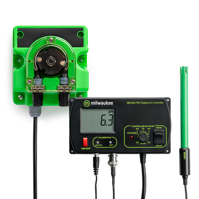 Milwaukee Set pH Monitor MC720 con bomba de...