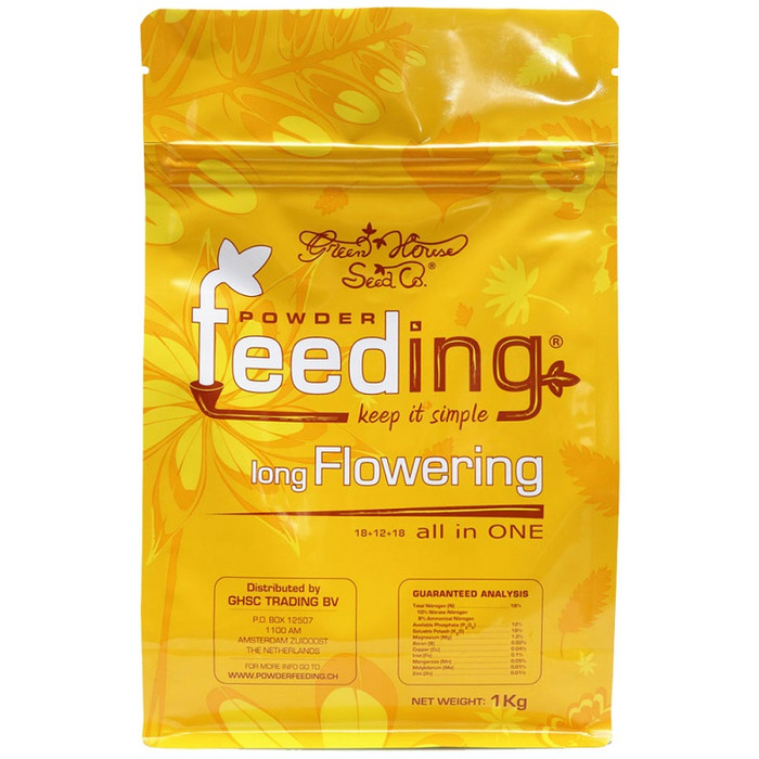 Fertilizante granulado Powder Feeding Long Flowering de 125g