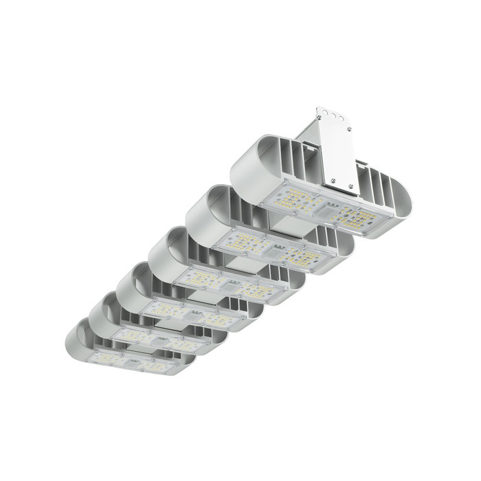 Lámpara Lucilu Shuttle 6 LED plata de 240 W regulable